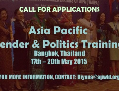 Call for Application: Asia Pacific Gender & Politics Training