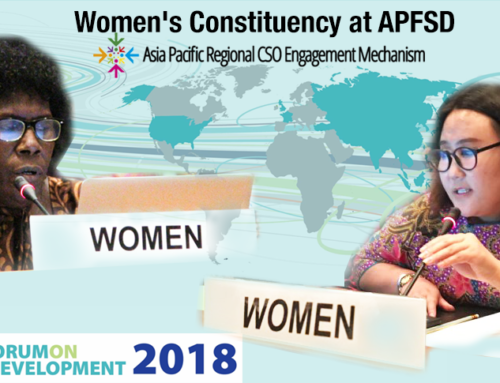 APWLD Members Sarankhukhuu Sharavdorj and Helen Hakena Speak at APFSD
