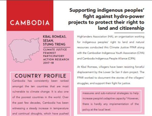 New Publications: Climate Justice Feminist Participatory Action Research (FPAR) Country Briefs