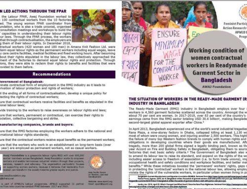 New Publications: Labour Feminist Participatory Action Research (FPAR) Country Briefs