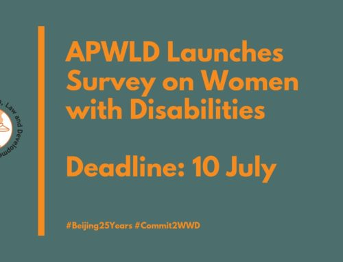 Deadline 10 July: APWLD Launches Survey on Women with Disabilities