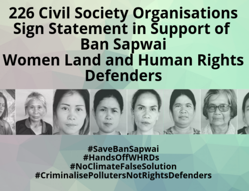 Sign on Statement for Ban Sapwai Women and Land Rights Defenders