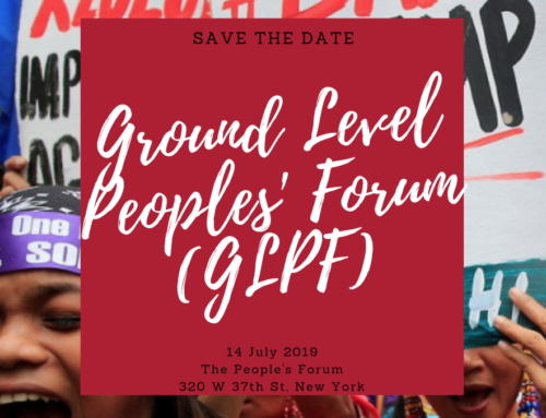 Join Us For A Ground Level Peoples' Forum in New York on 14th July, 2019!