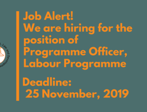 Vacancy Call for Programme Officer, Labour Programme