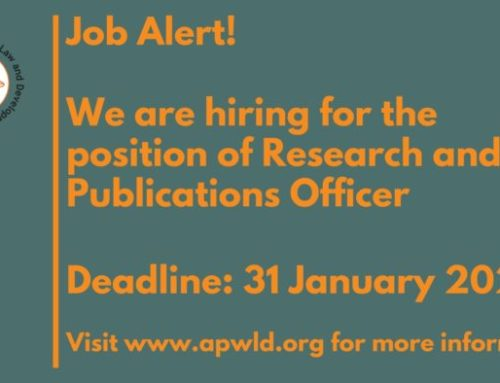 Vacancy Call for Research and Publications Officer