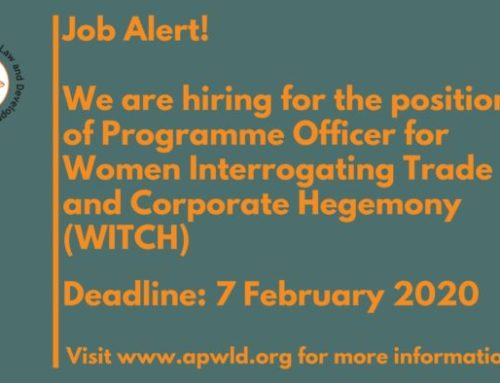 Vacancy Call for Programme Officer for  Women Interrogating Trade and Corporate Hegemony (WITCH)
