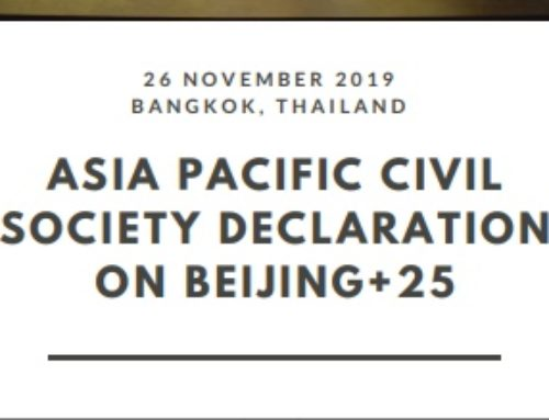 Asia Pacific Civil Society Declaration on Beijing+25