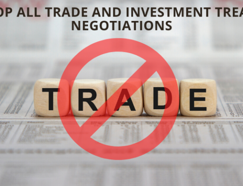 Letter: Stop all trade and investment treaty negotiations during the COVID-19 outbreak and refocus on access to medical supplies and saving lives