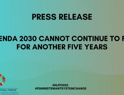 Press Release: Agenda 2030 Cannot Continue to Fail for Another Five Years