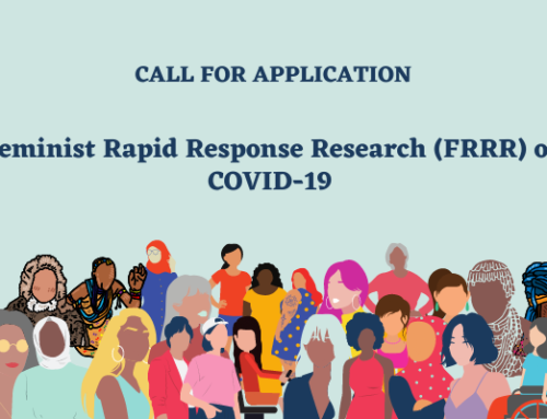 Call For Application: Feminist Rapid Response Research (FRRR) on COVID-19 2020-2021