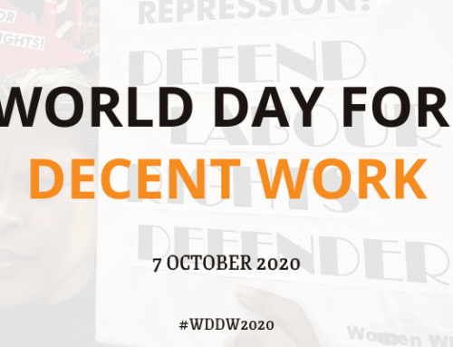 Statement: On World Day for Decent Work Day Migrants Demand for Decent Work and Dignity