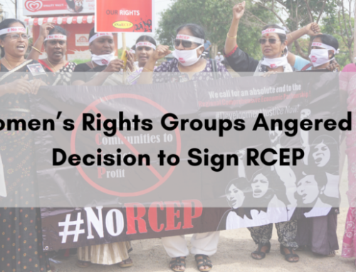 Press Release: Women's Rights Groups Angered on Decision to Sign RCEP