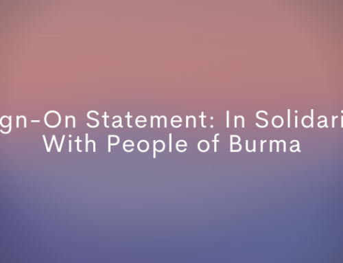Sign-On Statement: In Solidarity With People of Burma