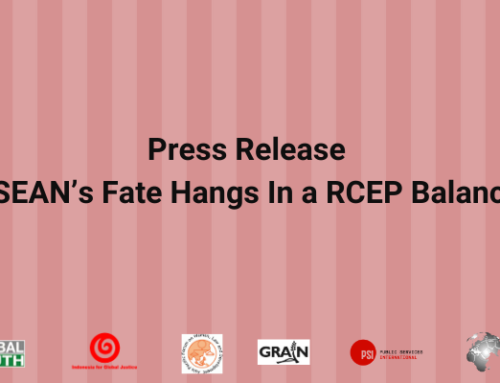 Press Release: ASEAN's Fate Hangs in an RCEP Balance
